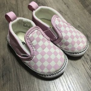 Pink checkered infant vans